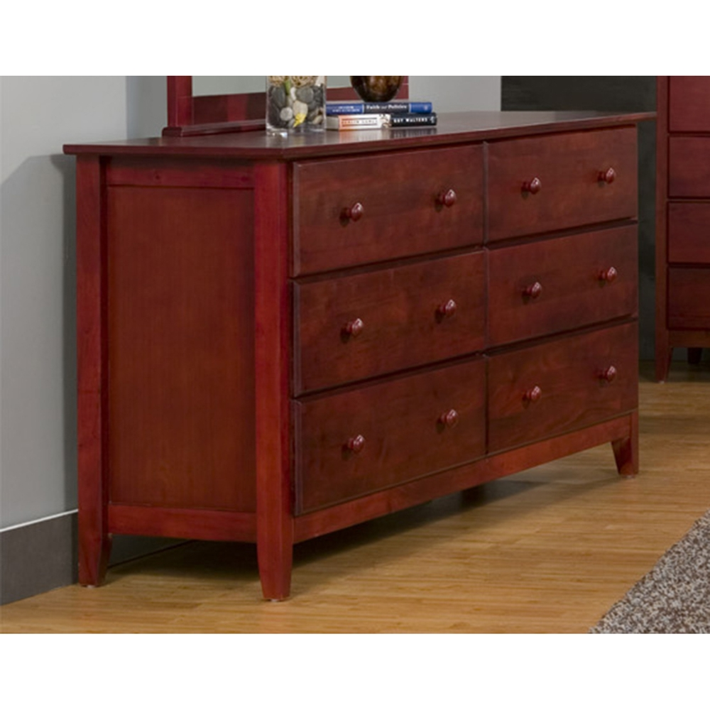 light cherry bedroom furniture portola 6 drawers dresser light cherry dcg stores 15822