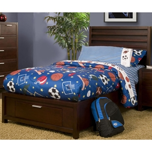 Camarillo Twin Storage Platform Bed - Merlot