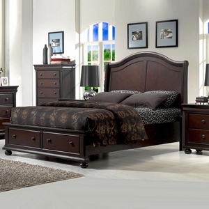 Hyde Park Storage Bed - Merlot