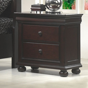 Hyde Park 2-Drawer Nightstand - Merlot