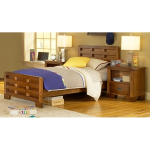 Heartland Platform Bed with Two Nightstands