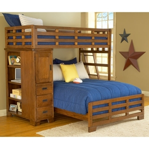 Heartland Twin Over Full Study Loft Bunk Bed