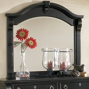 Heirloom Black Arched Frame Mirror