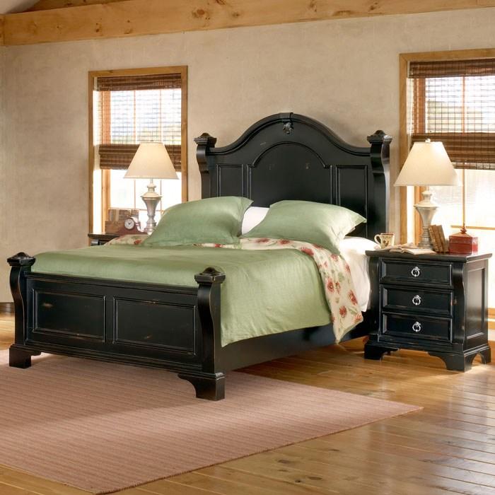 Heirloom 3 Piece Bedroom Set in Black | DCG Stores