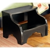 Heirloom Bedside Footstool in Black