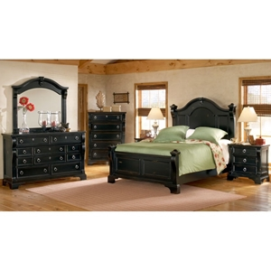 Heirloom 4 Piece Bedroom Set in Black