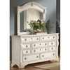 Heirloom Bedroom Set - Antique White, Posts, Bracket Feet - AW-2910-SET