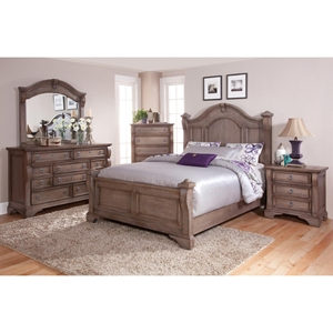 Heirloom Poster Bed Set - Weathered Gray