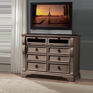Heirloom Entertainment Chest - Weathered Gray