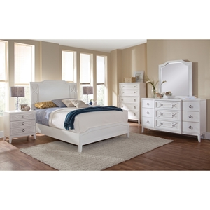 Grand Haven Panel Bed Set - White Lace