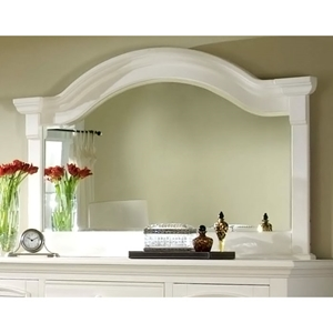 Cottage Traditions Landscape Mirror in Eggshell White
