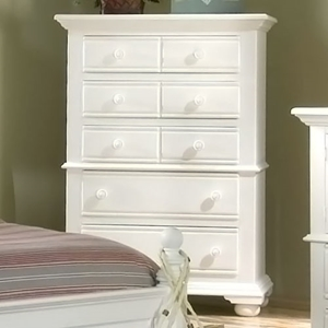 Cottage Traditions White 5-Drawer Chest