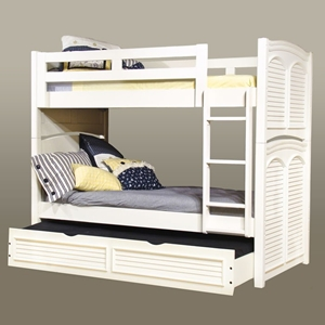 Cottage Traditions White Twin Bunk Bed