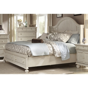 Newport King Panel Storage Bed in Antique Birch
