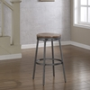 Stockton Backless Counter Stool - Slate Gray Frame, Golden Oak Seat - AW-B1-100-25W