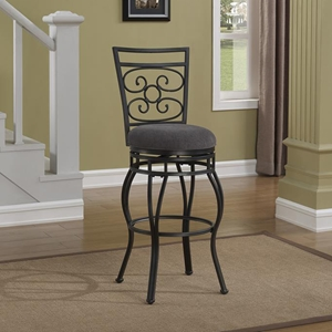Albany Swivel Bar Stool - Charcoal Gray