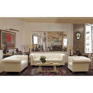Winston Sofa Set - Beige Linen Fabric