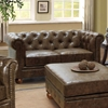 Winston Chesterfield Style Leather Loveseat - AL-LC10602VICO