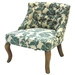 Ikat Fabric Accent Chair with Button Tufts - AL-LC3117CLGR