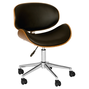 Daphne Modern Chair - Black Seat, Chrome Base