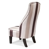 Garbo Striped Satin Fabric Chair - AL-LCGA1ST