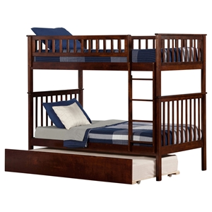 Woodland Twin over Twin Bunk Bed - Urban Trundle Bed