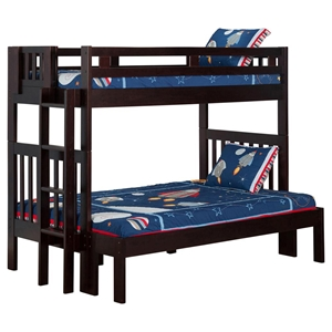 Cascade Twin over Full Bunk Bed - Espresso