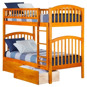 Richland Twin over Twin Bunk Bed - 2 Urban Bed Drawers