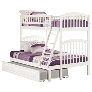 Richland Twin over Full Bunk Bed - Raised Panel Trundle Bed