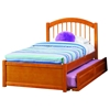 Windsor Full Flat Panel Foodboard Bed - Raised Panel Trundle Bed - ATL-AP943201