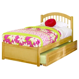 Windsor Full Flat Panel Foodboard Bed - Raised Panel Trundle Bed