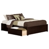 Concord King Bed - 2 Urban Bed Drawers, Flat Panel Foot Board - ATL-AR805211