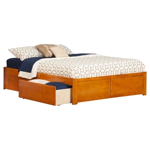 Concord King Bed - 2 Urban Bed Drawers, Flat Panel Foot Board