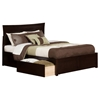 Metro King Flat Panel Foot Board Bed - 2 Drawers, Espresso - ATL-AR9052111