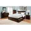 Bordeaux Platform Bed w/ Flat Panel Footboard and Raised Panel Drawers - ATL-BOPBFPFRPD