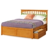 Brooklyn Platform Bed w/ Flat Panel Footboard and Drawers - ATL-BPBFPFD