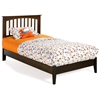 Brooklyn Twin Platform Bed w/ Open Footrail - ATL-BTWPBOF