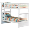 Columbia White Wood Bedroom Set w/ Slatted Bunk Bed - ATL-CWWBSSBB