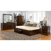 Concord Platform Bed w/ Flat Panels and Drawers - ATL-CPB2FPFPD