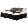 Concord Platform Bed w/ 2 Flat Panel Footboards and Flat Panel Drawers in Espresso - ATL-CPB2FPFPDES