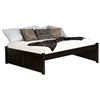 Concord Platform Bed w/ 2 Flat Panel Footboards in Espresso - ATL-CPB2FPES