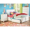 Monterey Platform Bed w/ Raised Panel Footboard and Drawers in White - ATL-MPBRPDWH