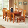 Shaker 7 Piece Rectangle Dining Set w/ Slatted Chairs - ATL-SH60X36SDT7PC