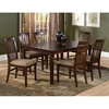 Shaker 7 Piece Extension Dining Set w/ 78 x 42 Rectangle Table - ATL-SH78X42BLDT7PC
