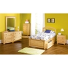 Windsor Twin Bed w/ Raised Panel Footboard and Storage Drawers - ATL-WTBRPFSD