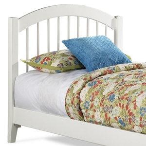 Windsor Arch Spindle Headboard in White