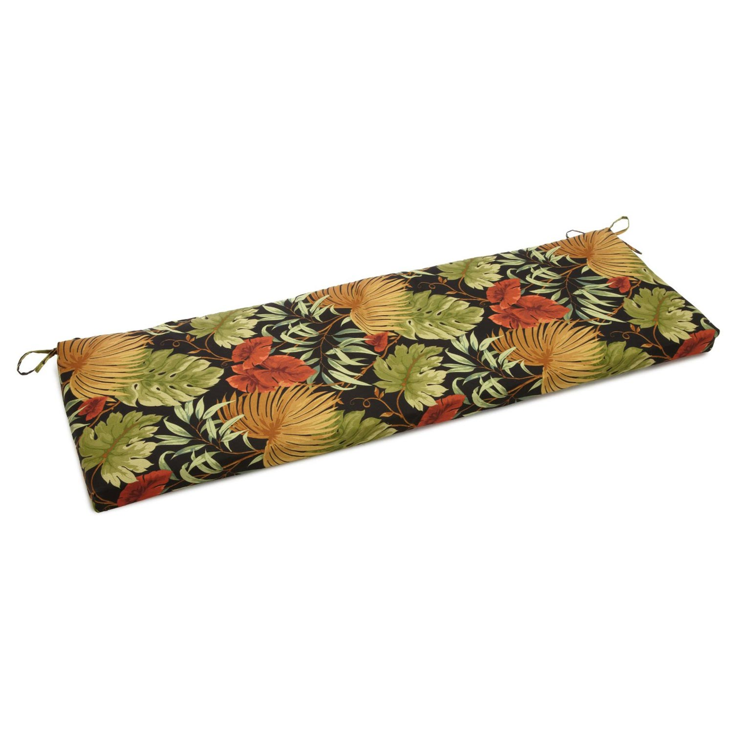 51 Quot X 19 Quot Patio Bench Swing Cushion Ties Patterned