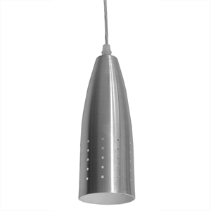 Camden 8 Inch Tall Pendant Light - Stainless Steel, Aluminum