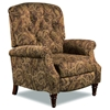 Huntington Traditional Reclining Chair - Alpaca Cumin Fabric