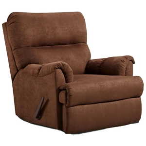 Lucas Rocker Reclining Chair - Aruba Chocolate Microfiber